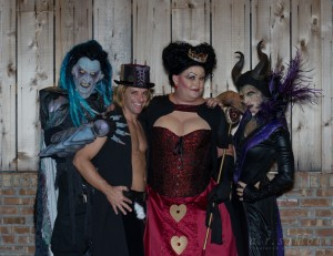 Hades, Hatter, Queen of Hearts and Maleficent